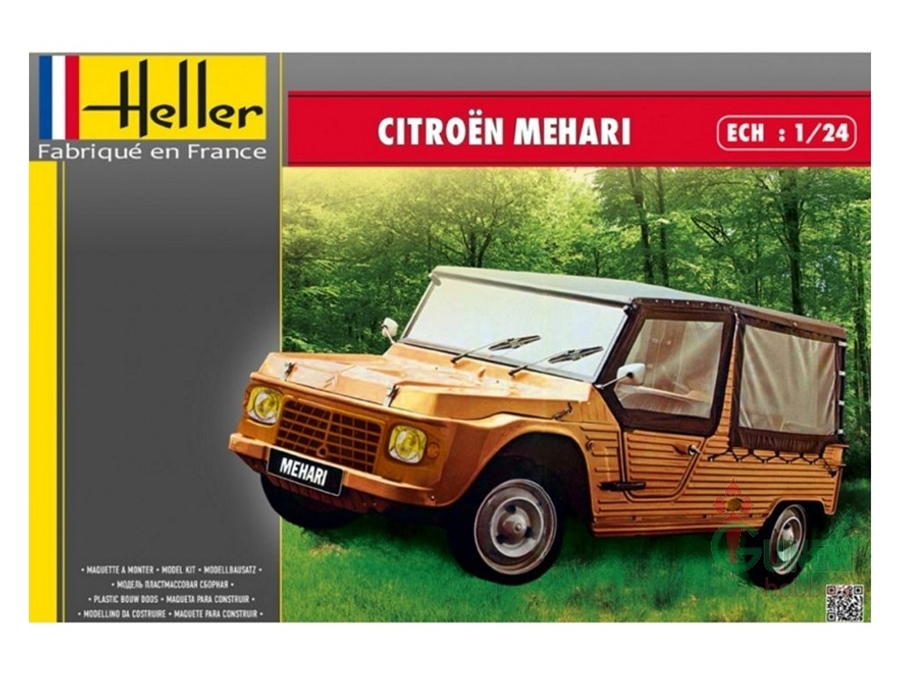 citroen 39 mehari 39 version 1 1 24 model trains rc kits habo hobby. Black Bedroom Furniture Sets. Home Design Ideas
