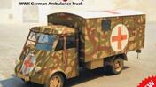 Lkw 3,5 t AHN with Shelter, WWII German Ambulance
